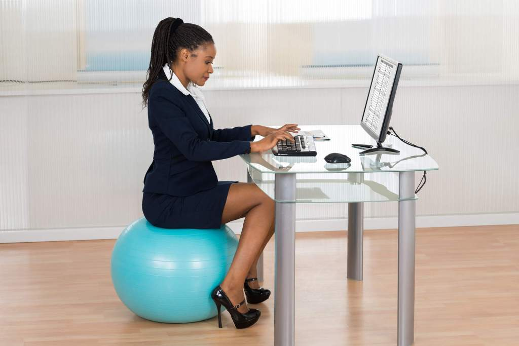 Stability ball at the office