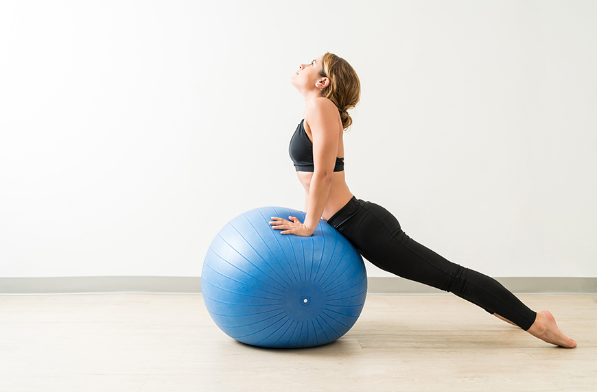 Stability ball at home